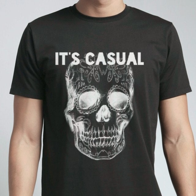 Image of day of the dead black standard tshirt