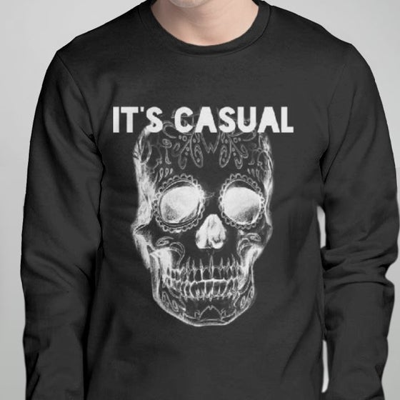 Image of day of the dead men's long sleeve black