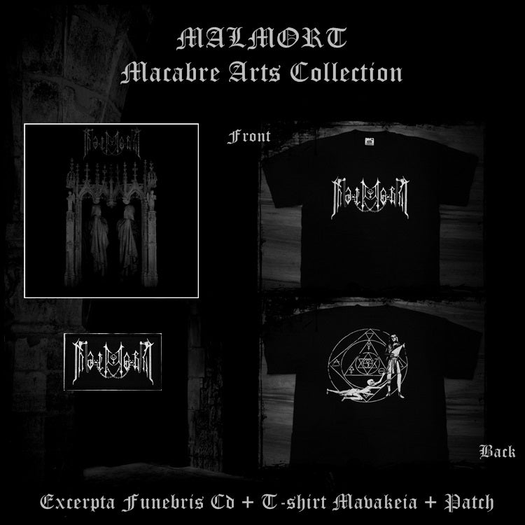Image of MALMORT Macabre Arts Collection: Excerpta Funebris (CD)+ T-shirt + Patch -LOW STOCK-