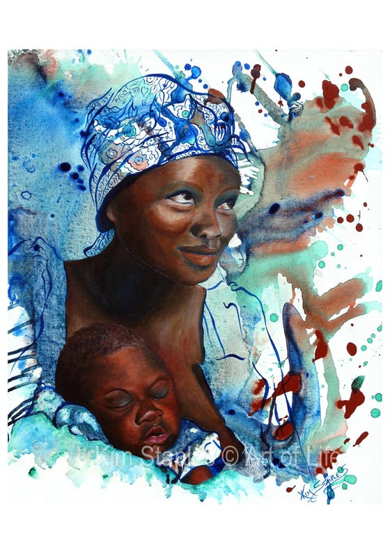 Image of African Mother Love - PRINT