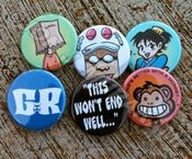 Image of Gordon Rider Buttons Set #1