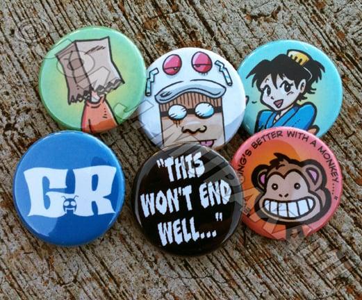 Image of Gordon Rider Buttons Set #1