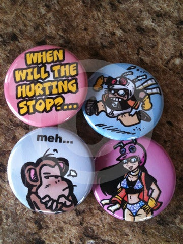 Gordon Rider: Buttons Set #3