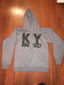 Image of KY Raised Charcoal Grey & Black Zip Hoodie