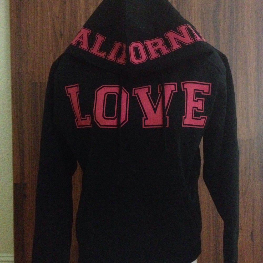 Image of Ladies - California Love pullover hoody Hot pink
