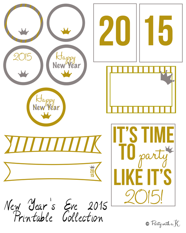 Image of NYE 2015 Printable Collection