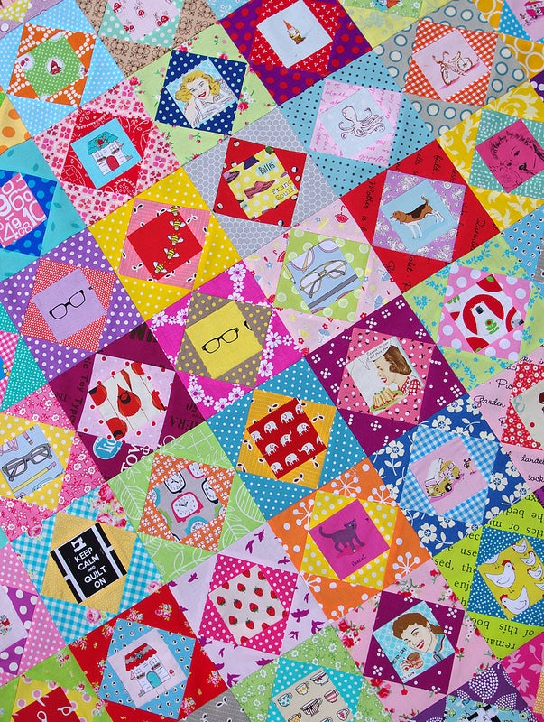 Image of 5 Inch Economy Block ~ FOUNDATION PAPER PIECING PATTERN (PDF FILE)