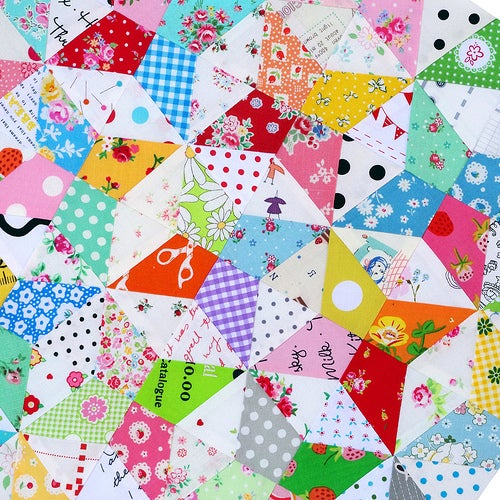 Image of 4 Inch Kaleidoscope Block ~ FOUNDATION PAPER PIECING PATTERN