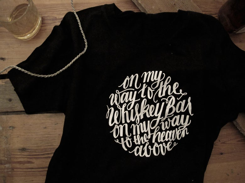 Image of Whiskey Bar Lyrics T-shirt