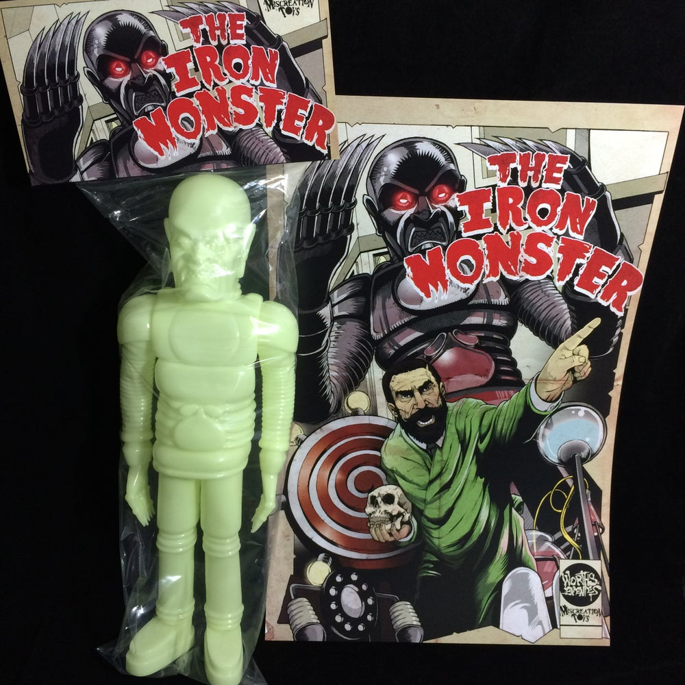"Image of The Iron Monster 15"" Blank GID + Print!"
