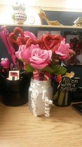 Image of Valentines Day Pen Bouquet  Mason Jar Set