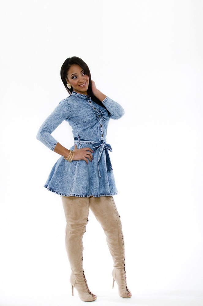 "Image of ""Dainty Denim"" dress"