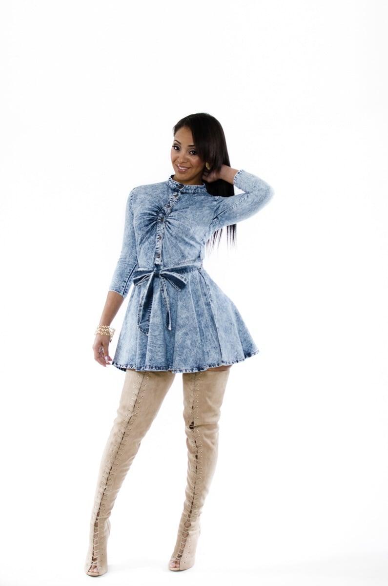"Image of ""Dainty Denim"" dress"