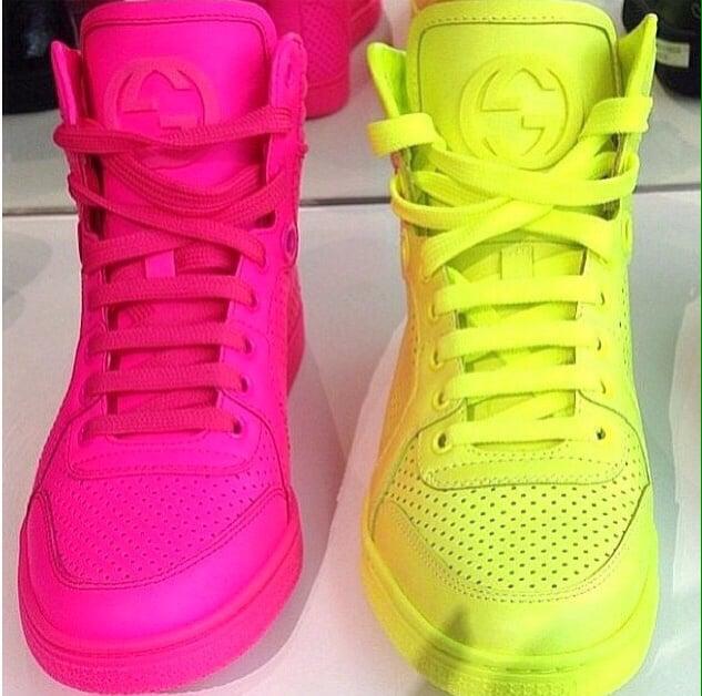 Unisex Gucci coda neon sneakers