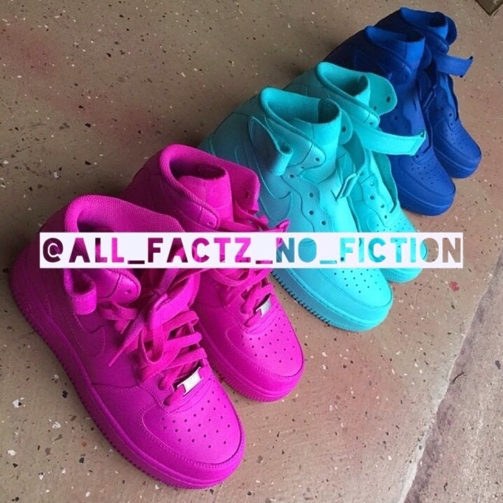 Custom Neon Color Air Force Ones