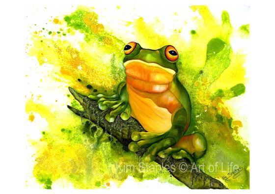 Image of Frog on a log - PRINT