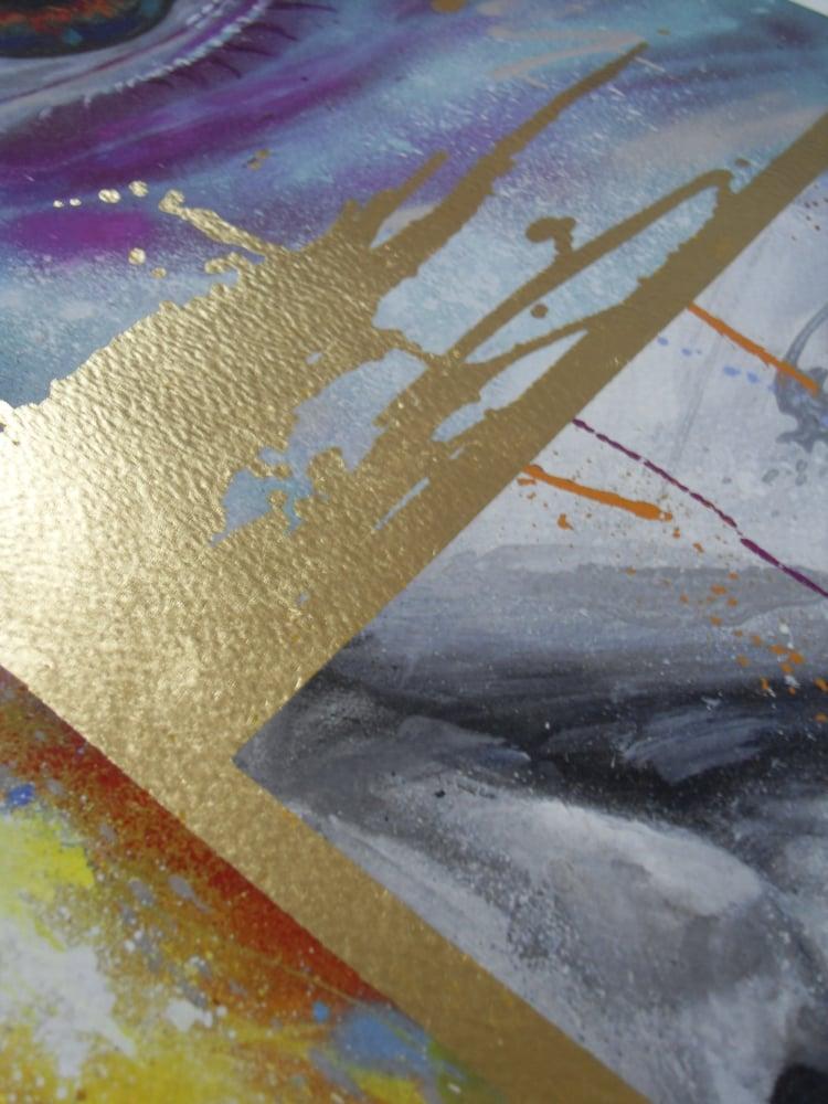 """Image of DAVID WALKER """"ALANA"""" ARRANGEMENT 1 - 65CM X 67CM - GOLD LEAF EDITION OF 15"""
