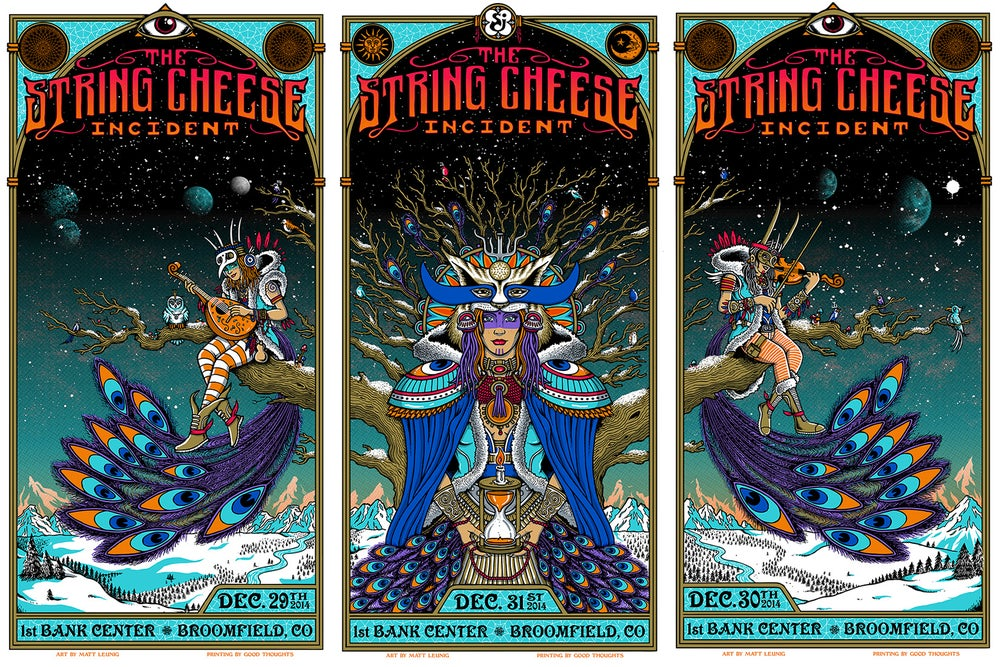 Image of STRING CHEESE INCIDENT @ Broomfield (CO) - NYE 2014 triptych