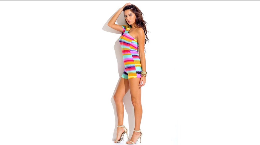 Image of Stripe Romper Jumpsuit