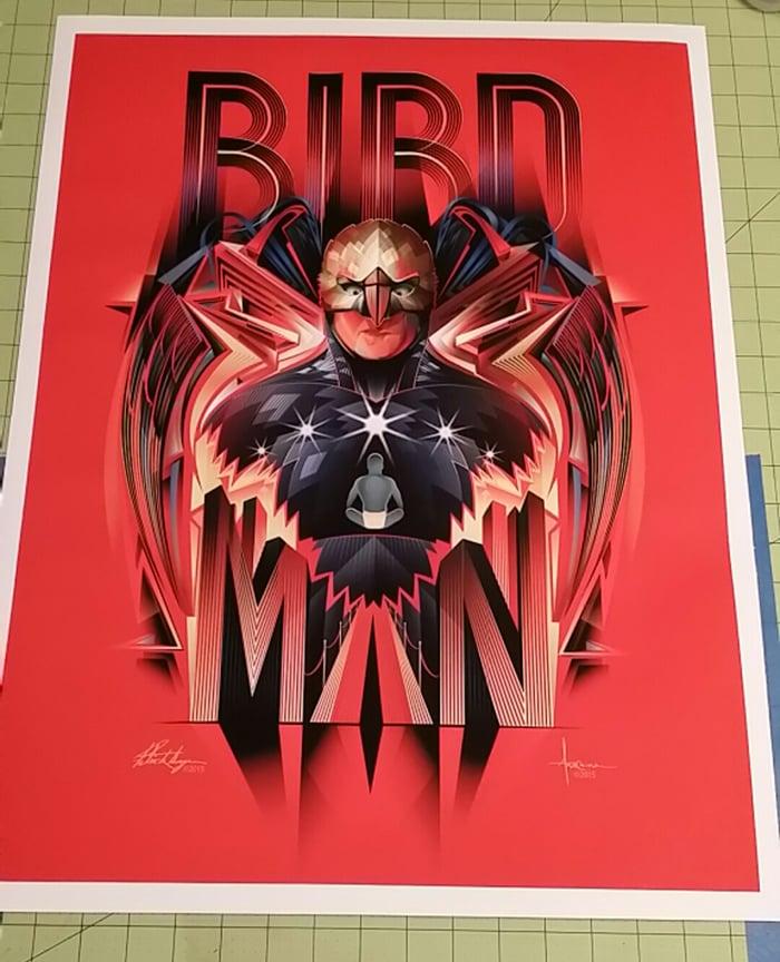 Image of BIRDMAN-18x24-edition 25-by Patrick Seymour & Orlando Arocena