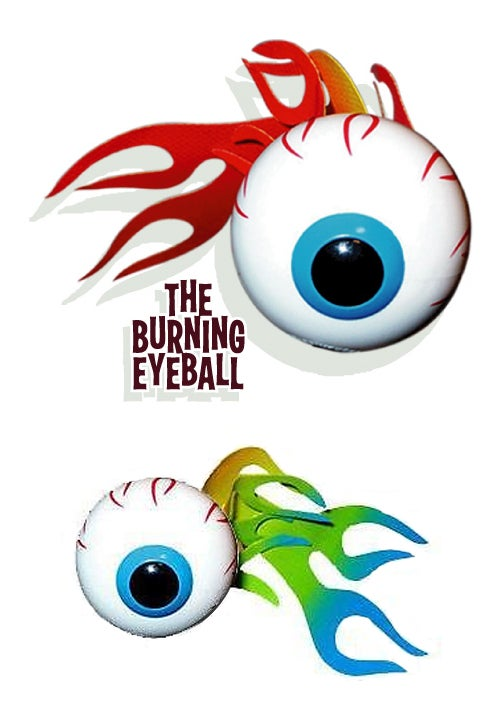 Image of Burning Eyeball Antenna Topper
