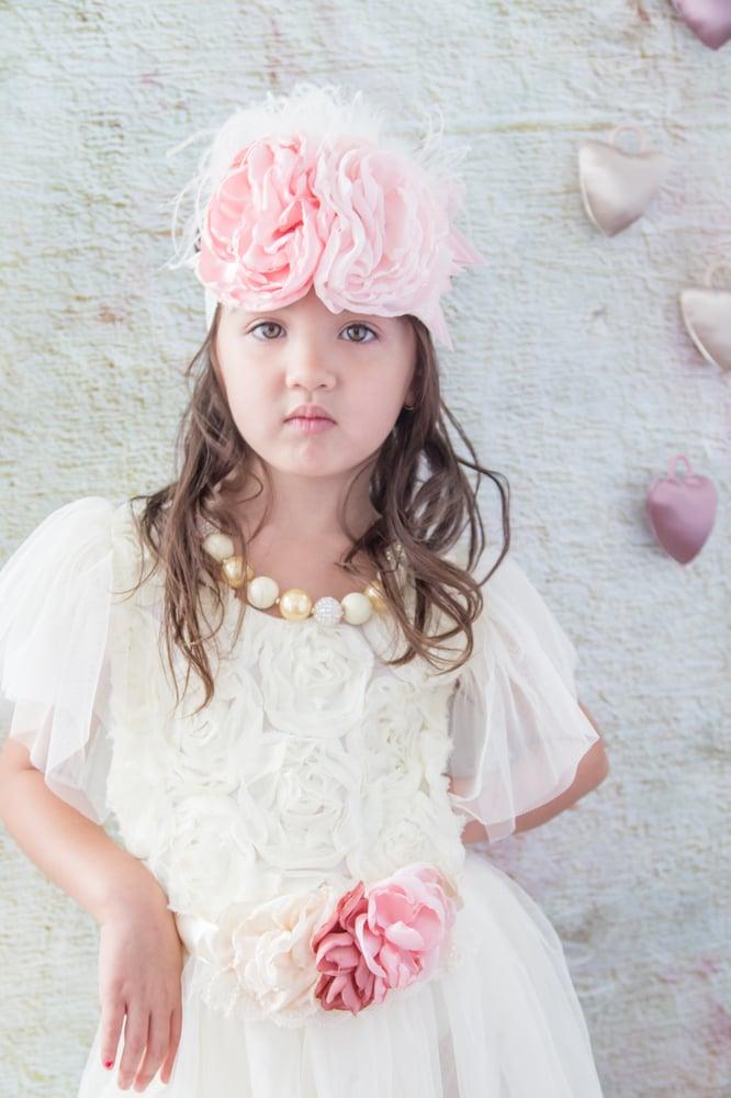 Image of Roses in Buttercream Dress
