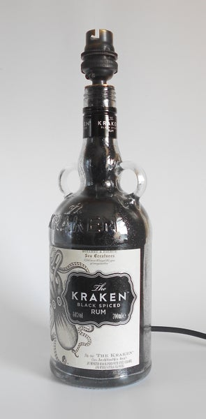 Image of KRAKEN RUM Bottle Lamp