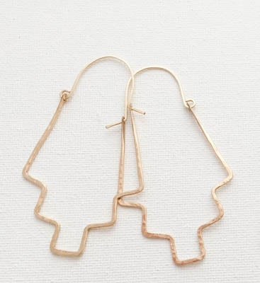 "Image of Gold ""Staircase"" Hoops"