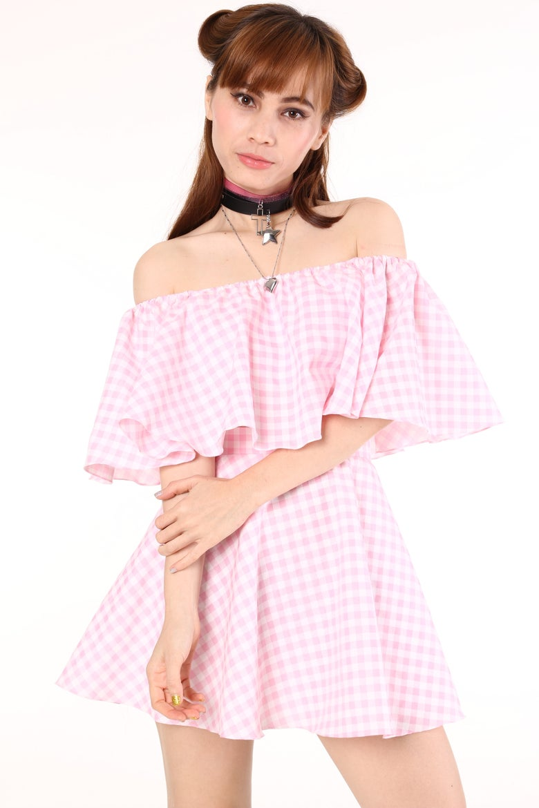 Image of Lolita Pink Gingham Set