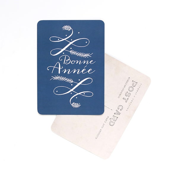 Image of Carte Postale BONNE ANNÉE / LISA / BLEU NUIT