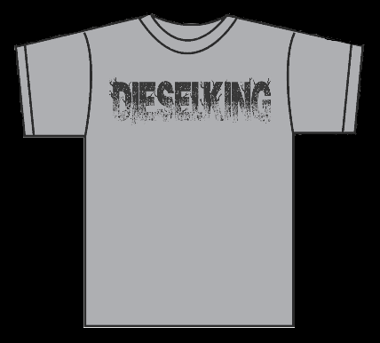 Image of Diesel King Concrete Grey Logo t shirt.