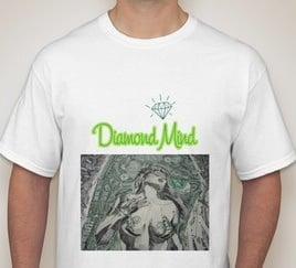 Image of WHITE MENS DIAMOND MIND TSHIRT