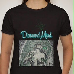 Image of WOMENS BLACK DIAMOND MIND TSHIRT