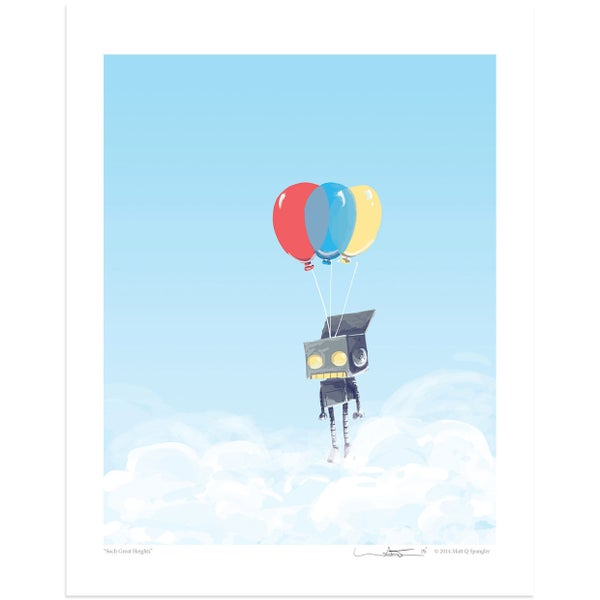 Such Great Heights Print - Matt Q. Spangler Illustration