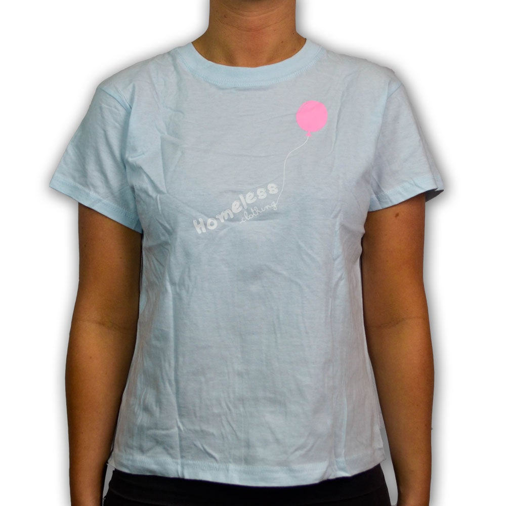 Image of Girls - Balloon Tee Baby Blue