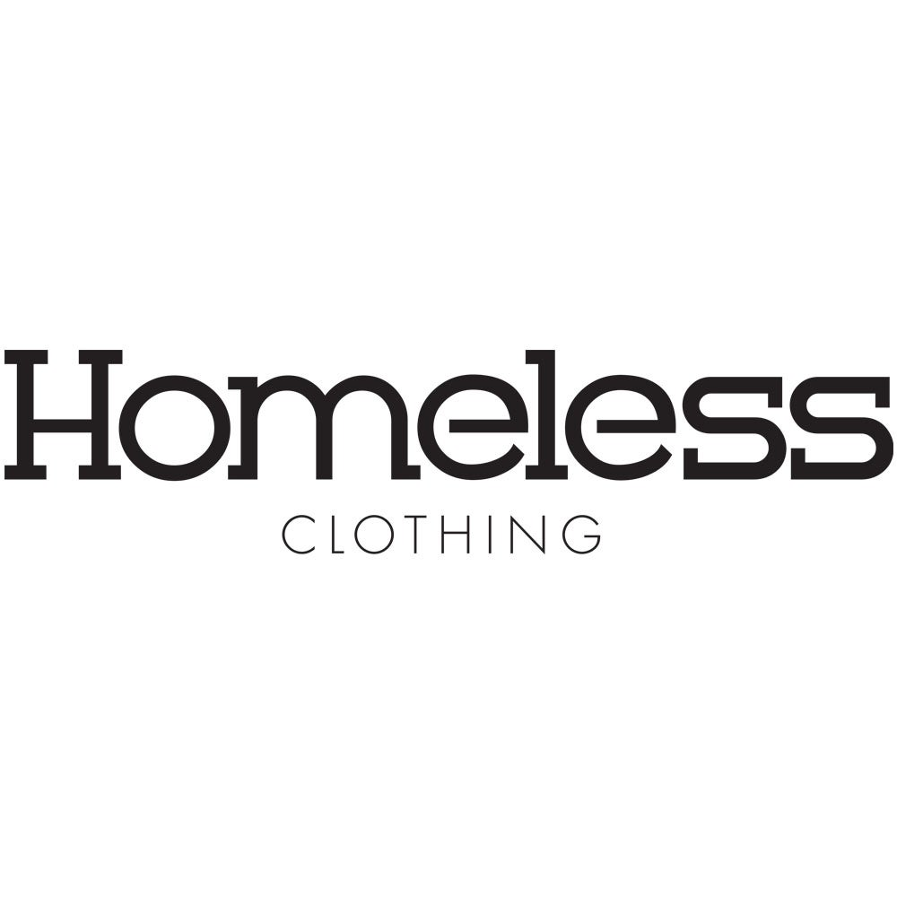 Image of Homeless Clothing Text Logo Vinyl Decal