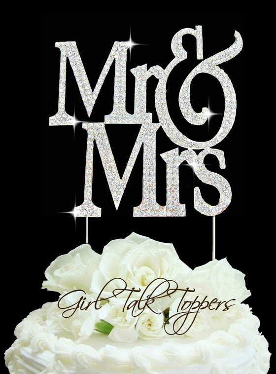 Mr Mrs Cake Topper Size