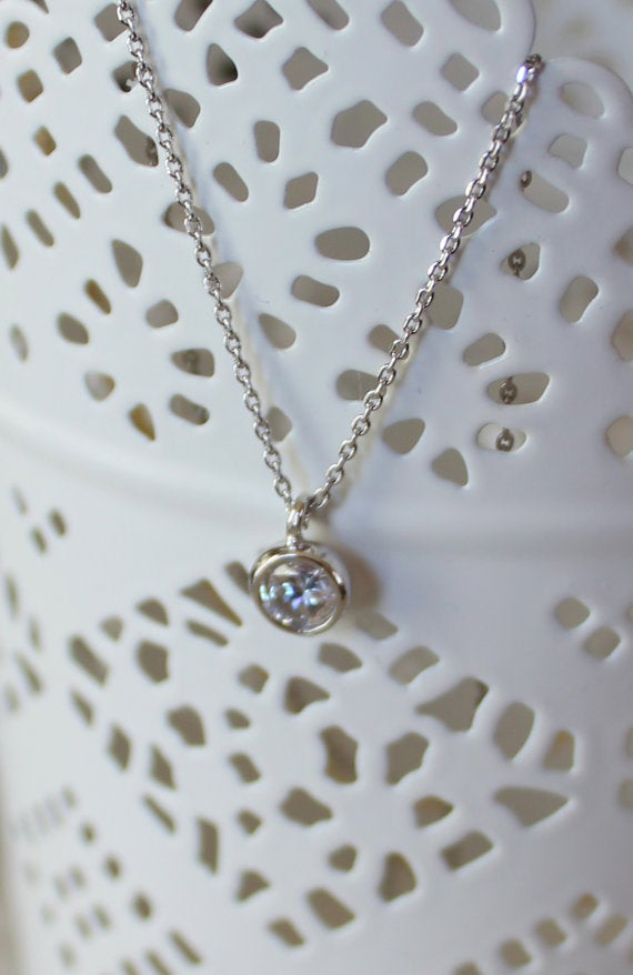 Image of CZ Drop Necklace