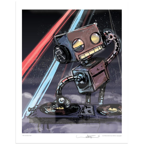 The Modern DJ Print - Matt Q. Spangler Illustration