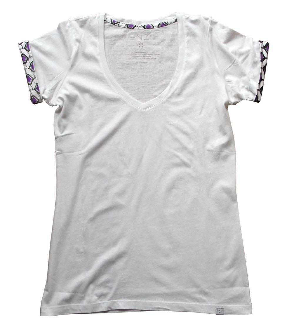 Image of ENZI Women's White Khanga Tee