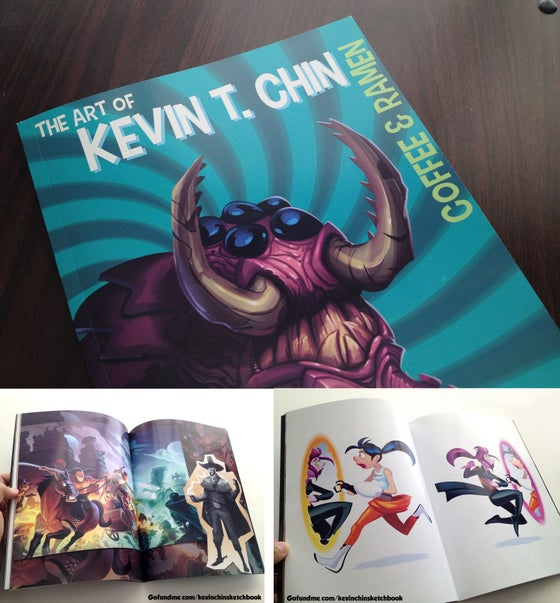 Image of Coffee and Ramen: The Art of Kevin T. Chin (Artbook)