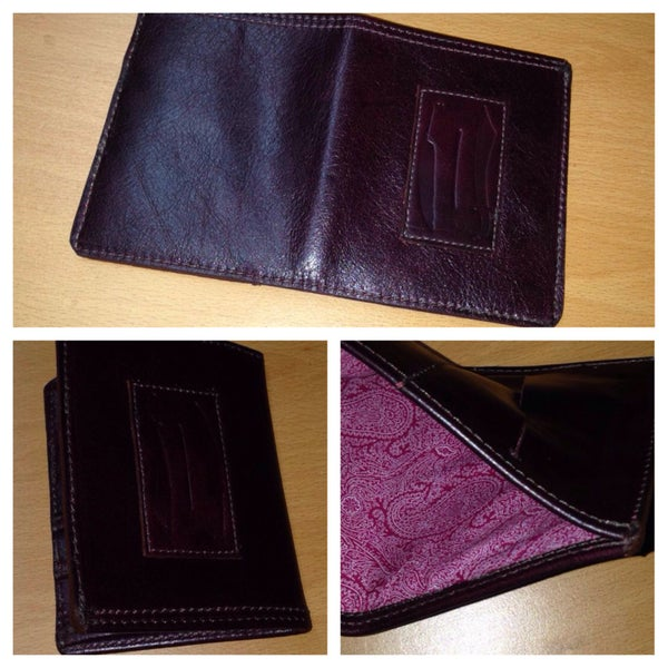 Image of Raisin Red Leather Wallet