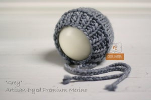 "Image of Ribbed Knit Bonnet - ""Grey"""