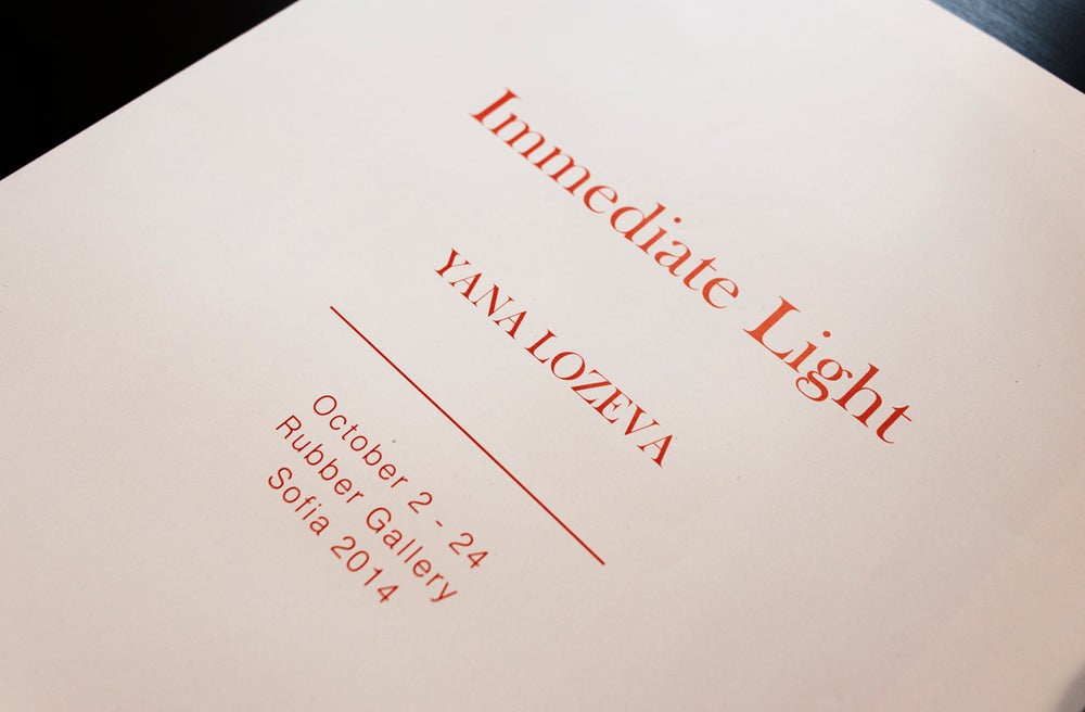 Image of Immediate Light exhibition paper