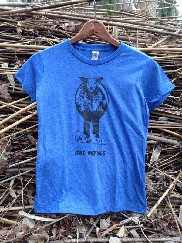 Image of Women | short sleeve, blue, Sheep logo