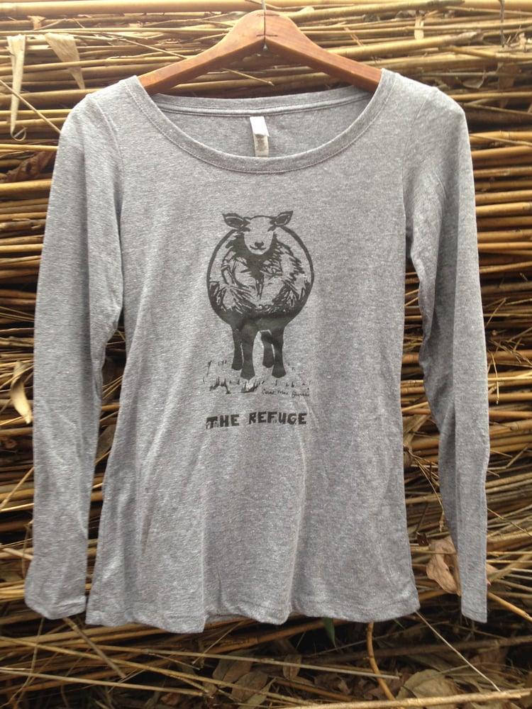 Image of Women | long sleeve, heather grey, Sheep logo