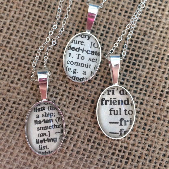 Image of Sterling Silver Dictionary Word Necklace