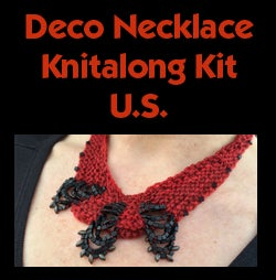 Image of Red Deco Necklace Knitalong Kit - U.S.