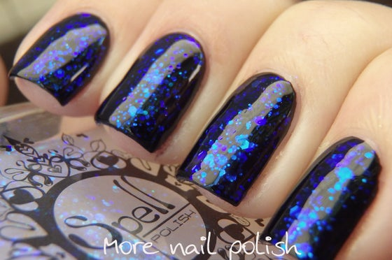 Image of ~The Stars are Whispering~ opalescent blue violet Glitter Nail Polish topcoat!