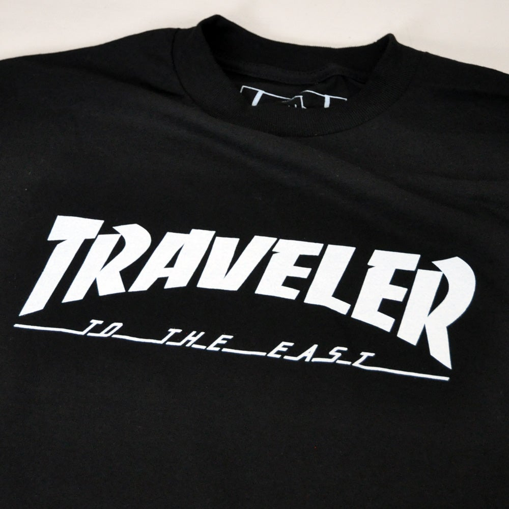 Image of The 'Traveler' Black T-shirt